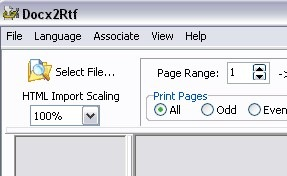 Convert Docx to RTF and PDF